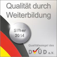 Siegel Weiterbildung Silber 2014