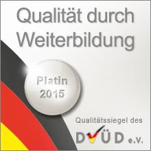 Siegel Weiterbildung Platin 2015